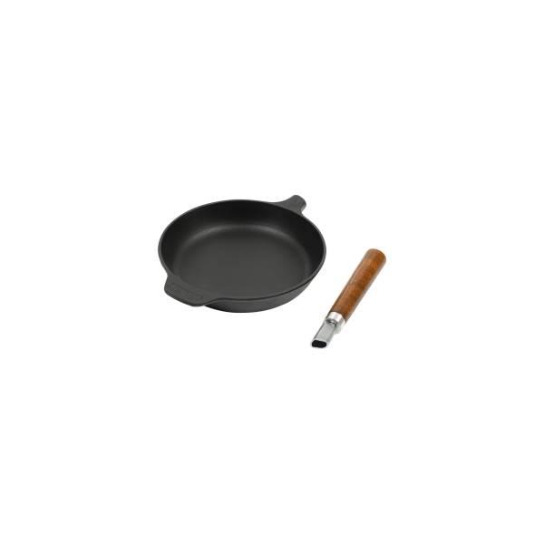 Сковорода 240*40 с быстро съемной деревянной ручкой