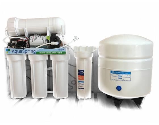 Система очистки воды AquaSpring с повышающим насосом