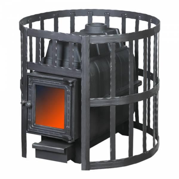Банная печь ПАРОВАР 22 сетка-ковка (201) без выноса