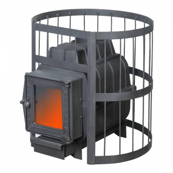 Банная печь ПароВар 16 сетка-прут (201) без выноса