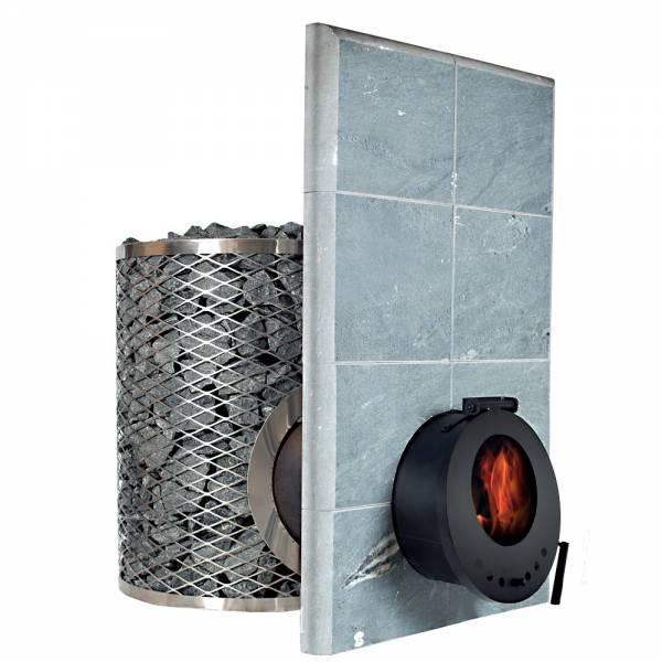 Печь для сауны IKI SL со стеклянной дверцей (сквозь стену)
