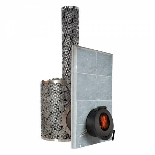 Печь для сауны IKI SL Plus со стеклянной дверцей (сквозь стену)