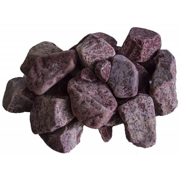 Камни для бани малиновый кварцит обвалованный, 20 кг
