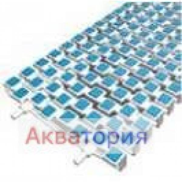 Решетки для переливных лотков Nexus SCACCO Прямой участок Арт 1004251