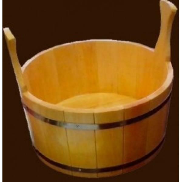 Шайка для бани на 7 л лакированная