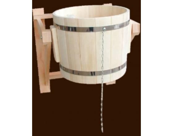 Обливное ведро на 17 литров из чистого дерева
