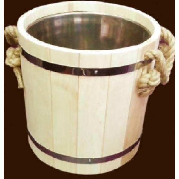 Запарник для бани и сауны на 15 литров с нержавеющей вставкой