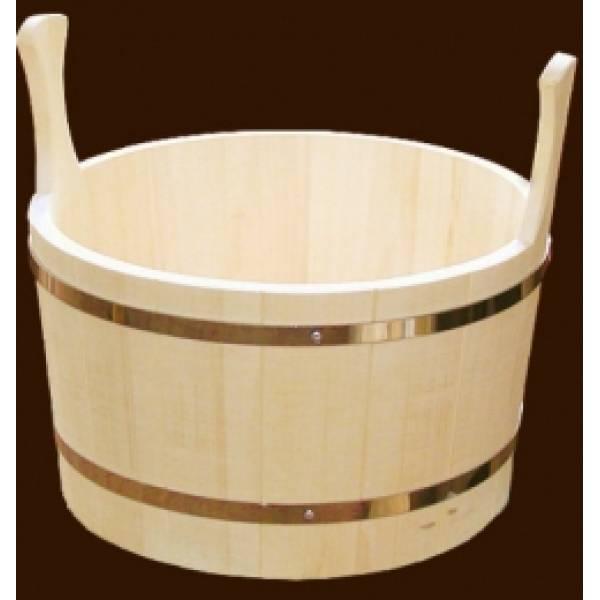 Шайка для бани и сауны на 5 литров из чистого дерева