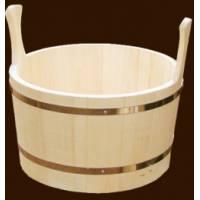 Шайка для бани и сауны на 12 литров из чистого дерева