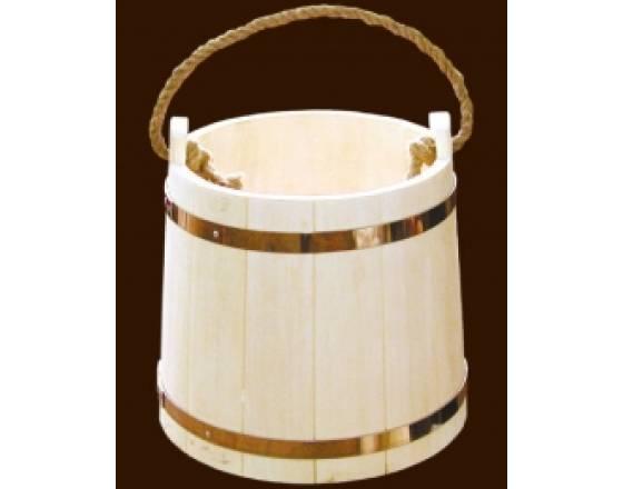Ведро для бани на 22 л из чистого дерева