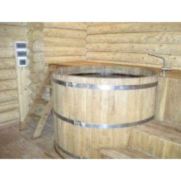 Купель круглая из дуба диаметром 1,5 м