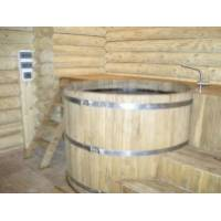 Купель круглая из дуба диаметром 2,0 м