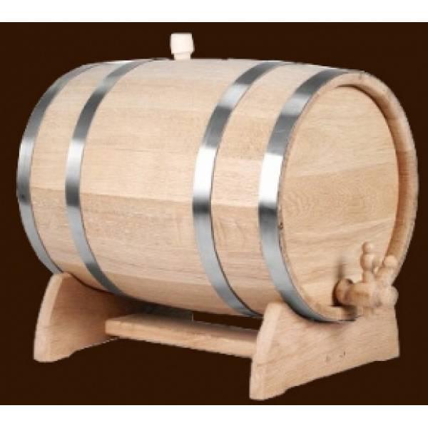 Дубовая бочка для вина и коньяка на 2 л