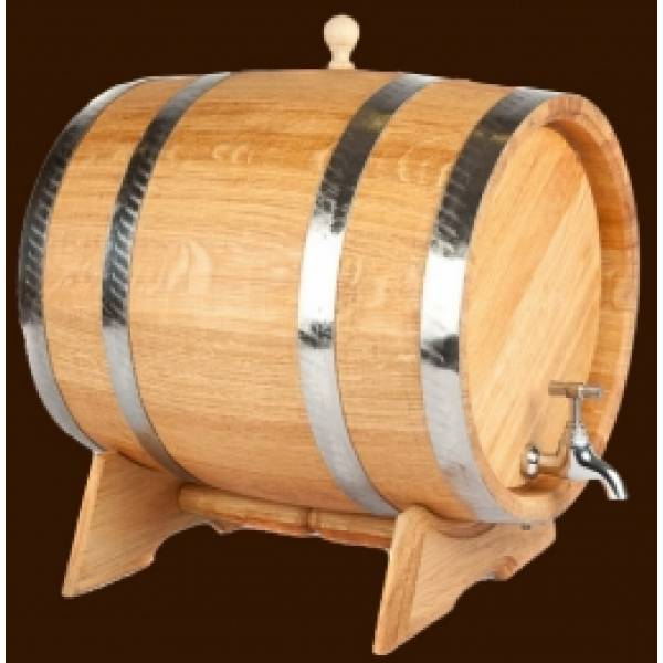 Дубовая бочка для вина и коньяка на 30 л