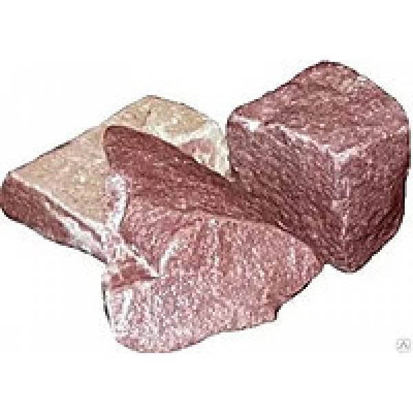 Малиновый кварцит колотый, 20 кг