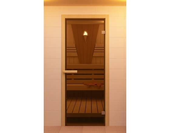 Дверь для сауны и бани бронза