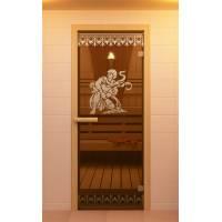 """Дверь для сауны, серия """"Рим"""", стекло бронзовое"""