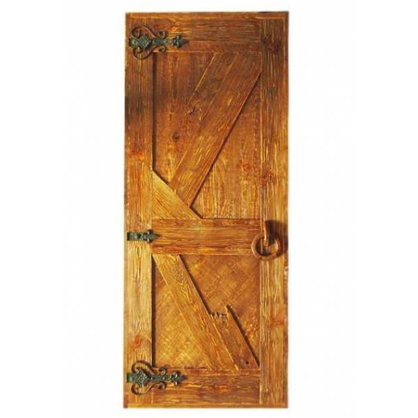 Дверь банная глухая состаренная