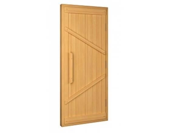 Дверь для русской бани Ласточкин хвост, бук