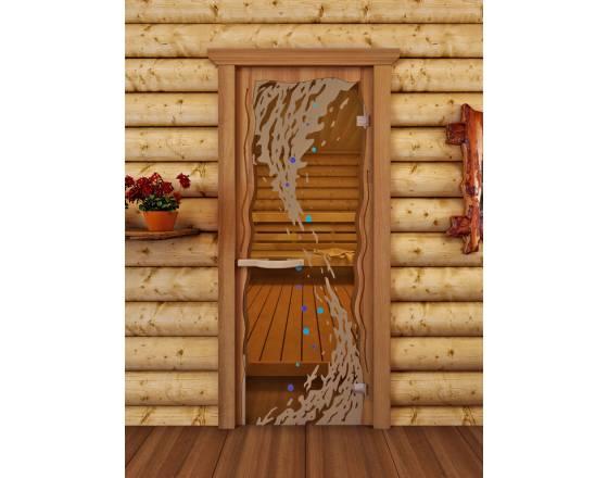 """Дверь для сауны """"Круиз"""" Волна"""
