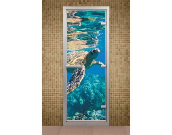 Дверь для турецкой бани и ванной Водный мир