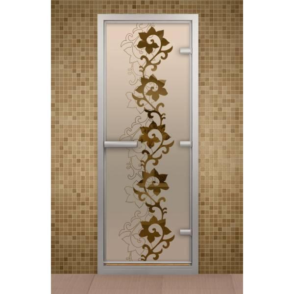 Дверь для турецкой бани и ванной Чайный декор