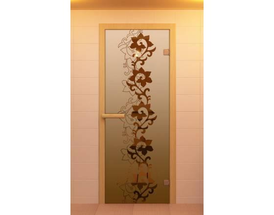 """Дверь для сауны и бани """"Чайный декор"""""""