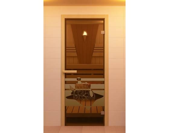 """Дверь для сауны и бани серия """"Банный день"""""""