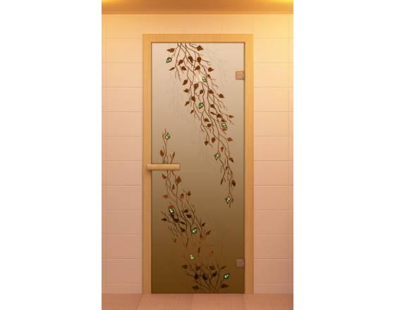 """Дверь для сауны и бани """"Береза"""""""