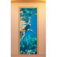 """Дверь для сауны и бани """"Водный мир"""""""