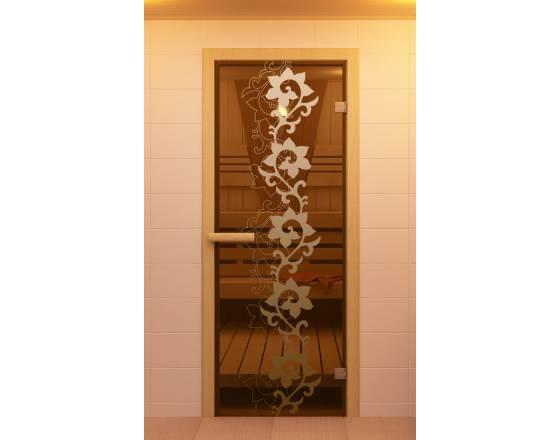 """Дверь для сауны и бани """"Камелия"""""""