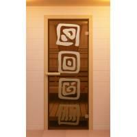 """Дверь для сауны и бани """"Лед"""""""