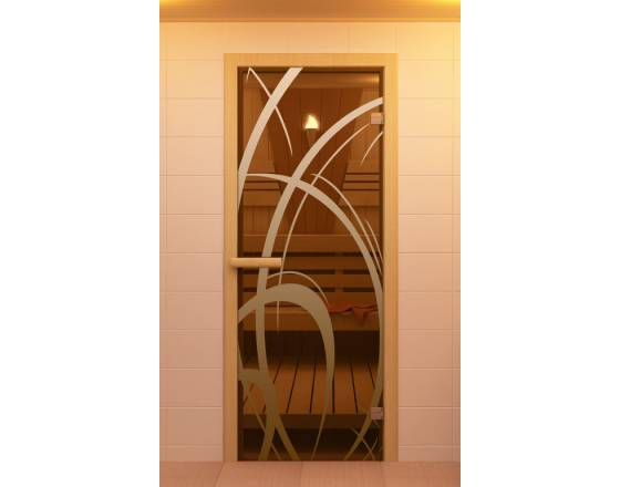 """Дверь для сауны и бани """"Мокко"""""""