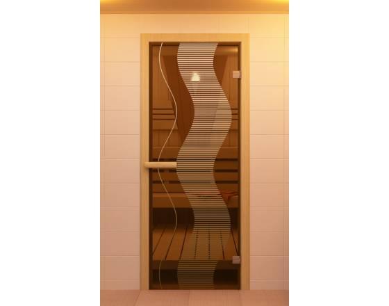 """Дверь для сауны и бани """"Растр"""""""