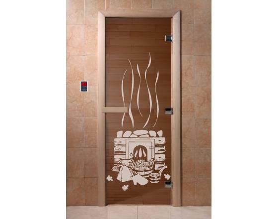Двери DoorWood с рис «Банька» (бронза)