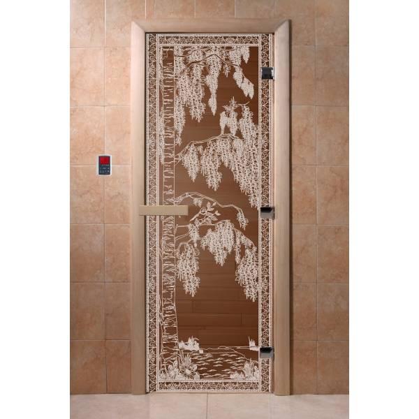 Двери DoorWood с рис «Березка» (бронза)