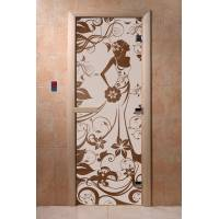 Двери DoorWood с рис «Девушка в цветах» (бронза)