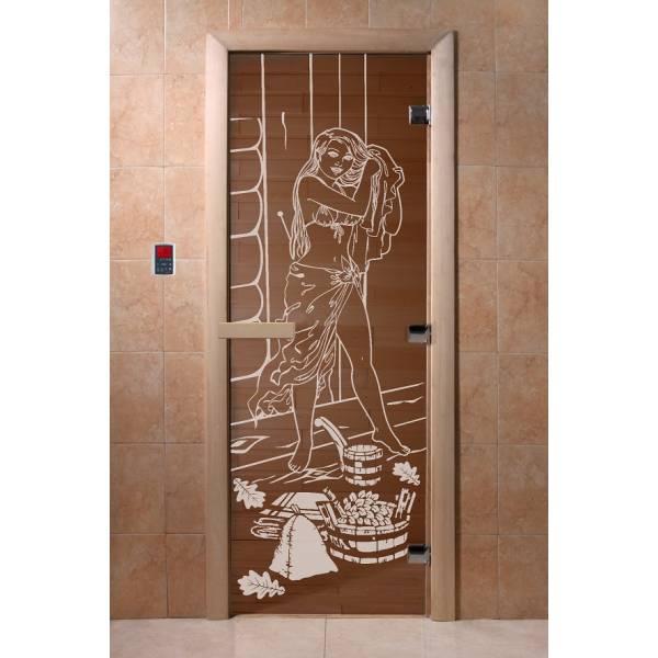 Двери DoorWood с рис «Дженифер» (бронза)