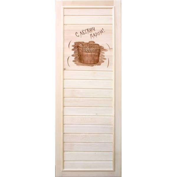 Дверь банная глухая с рисунком