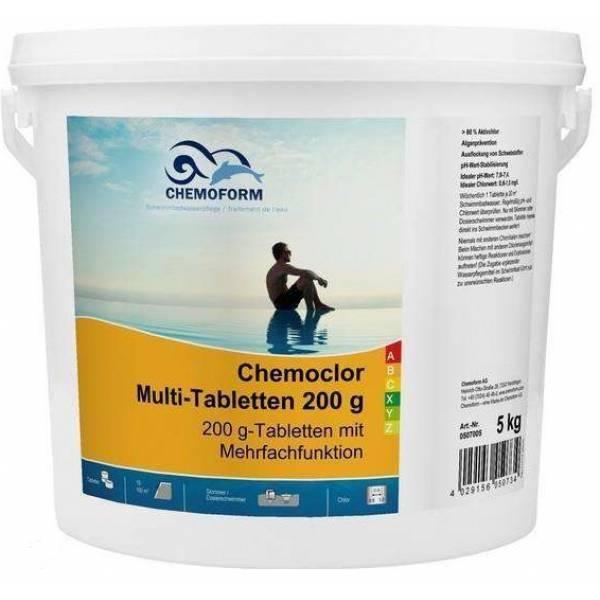 Хлорные таблетки CHEMOFORM Мультитаблетки - 200г, 5кг