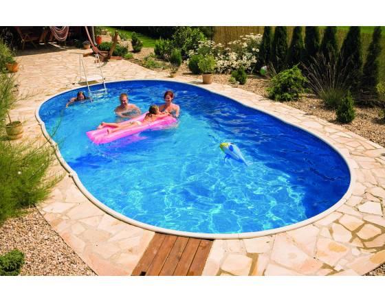 Каркасный бассейн овальный Azuro 405 DL Mountfield
