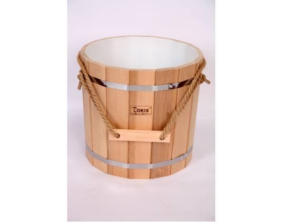 Запарник ольха пластиковая вставка 16 л для бани сауны