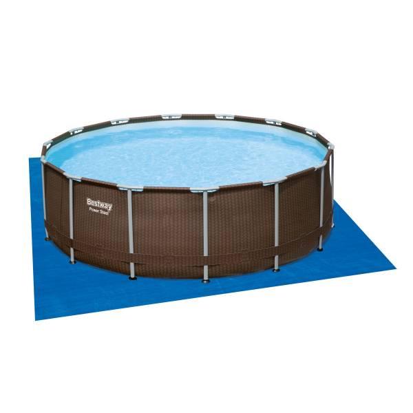 Каркасный бассейн Bestway Ротанг 56664 (427х107) с картриджным фильтром