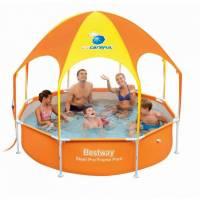 Каркасный бассейн Bestway 56432 (244х51) с навесом