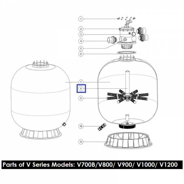 Дюзовая коробка 89010611 в комп-ке с трубой для V700B