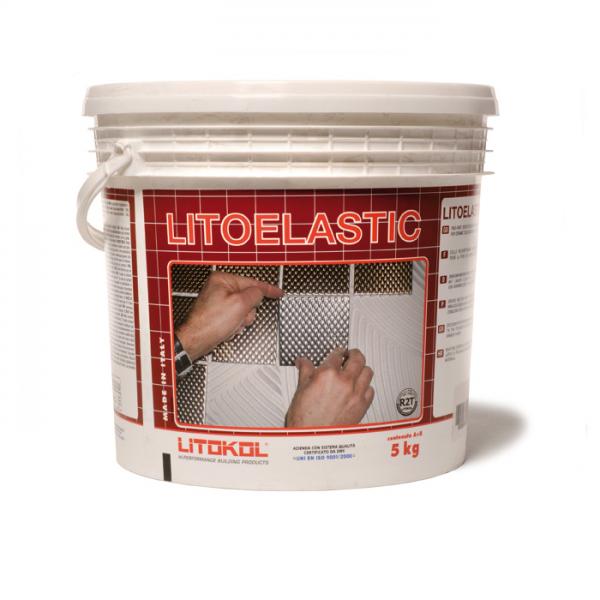 Клей LITOELASTIC двухкомпонентный белый A+В (ведро) 5 кг