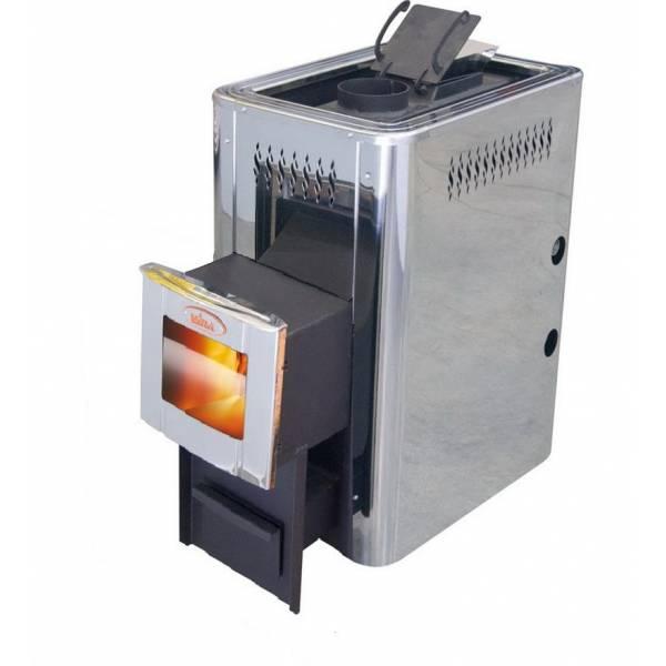Печь для бани и сауны VIRA-12ПСН Пар по Белому (Парогенератор/ дверца со стеклом/ нержавеющий кожух)