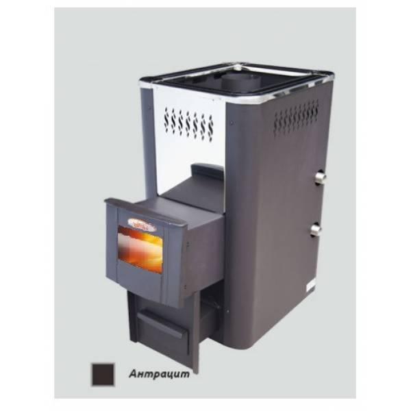 Печь для бани и сауны VIRA-12ТС (Теплообменник/ дверца со стеклом) /VIRA-12ТСК (+корот. топливный канал)