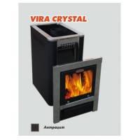 Печь для бани и сауны VIRA-18 CRYSTAL (Большое панорамное стекло)