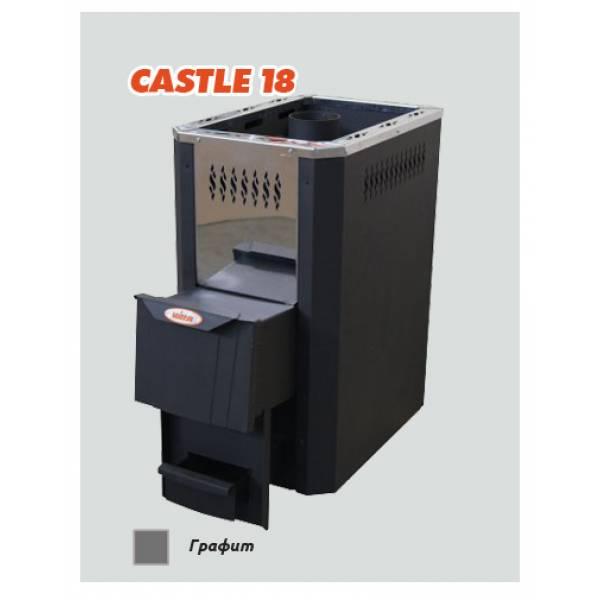 Печь для бани и сауны Vira CASTLE -18/ CASTLE -18К (короткий топливный канал)